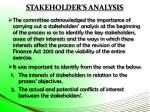 stakeholder s analysis