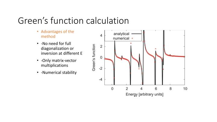 Green's function calculation