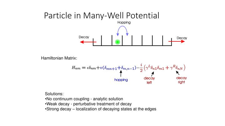 Particle in Many-Well Potential