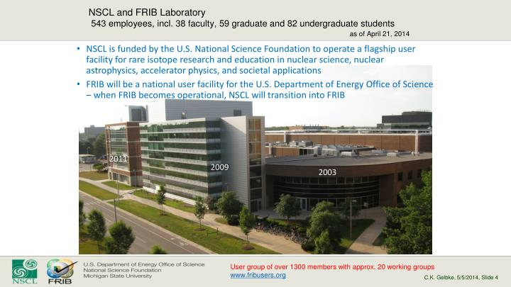 NSCL and FRIB Laboratory