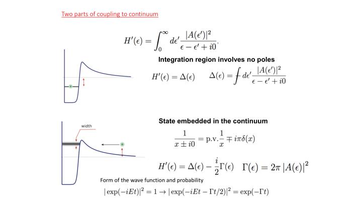 State embedded in the continuum