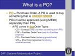 what is a po