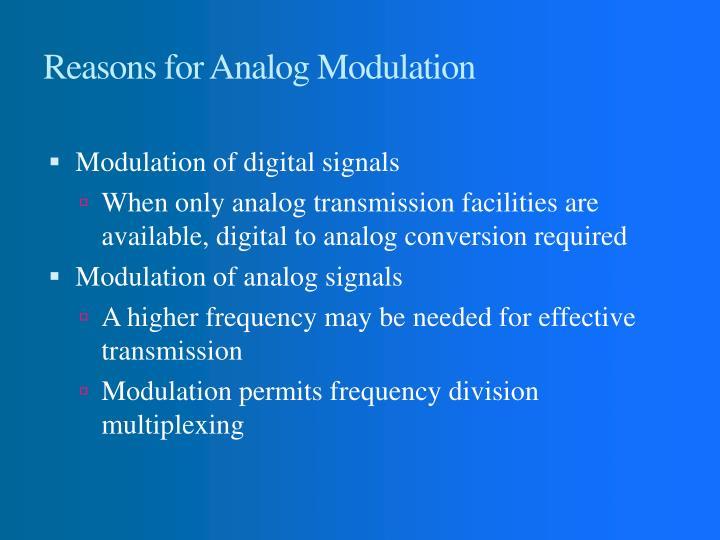 Reasons for Analog Modulation