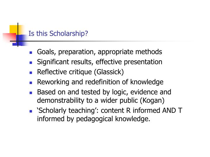Is this Scholarship?