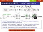 non uniform fft local convolution