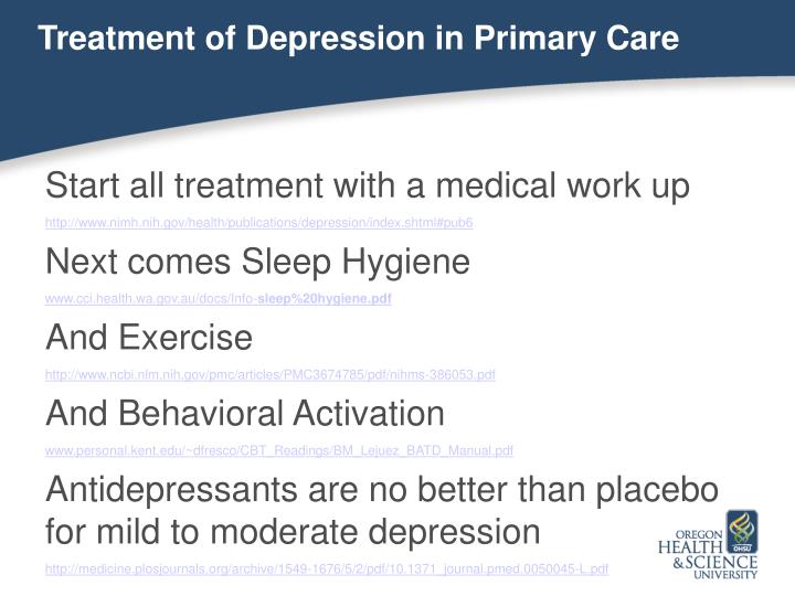 Treatment of Depression in Primary Care