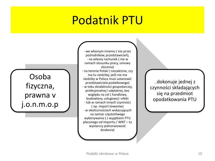 Podatnik PTU