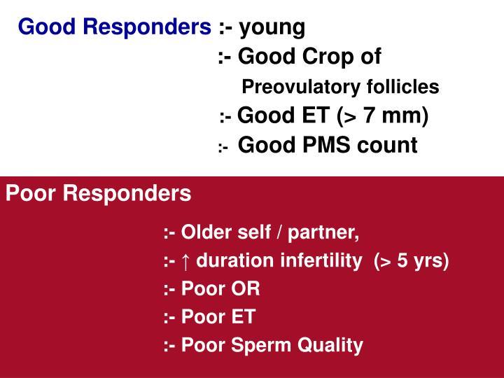Good Responders