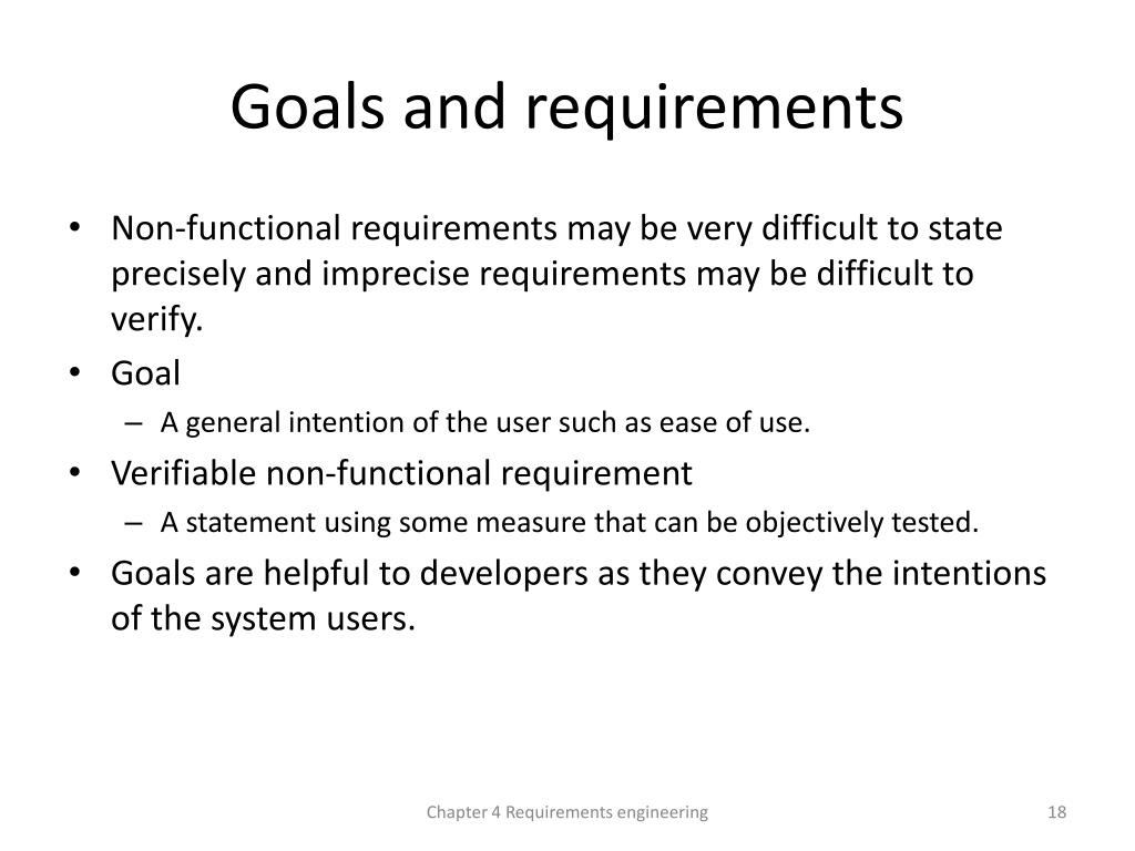 PPT - Chapter 4 – Requirements Engineering PowerPoint