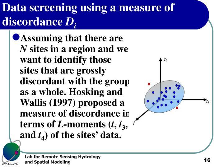 Data screening using a measure of discordance