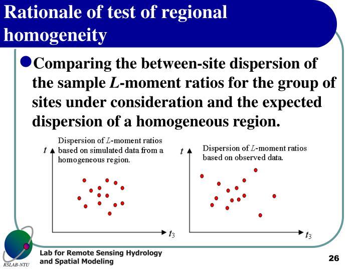 Rationale of test of regional homogeneity