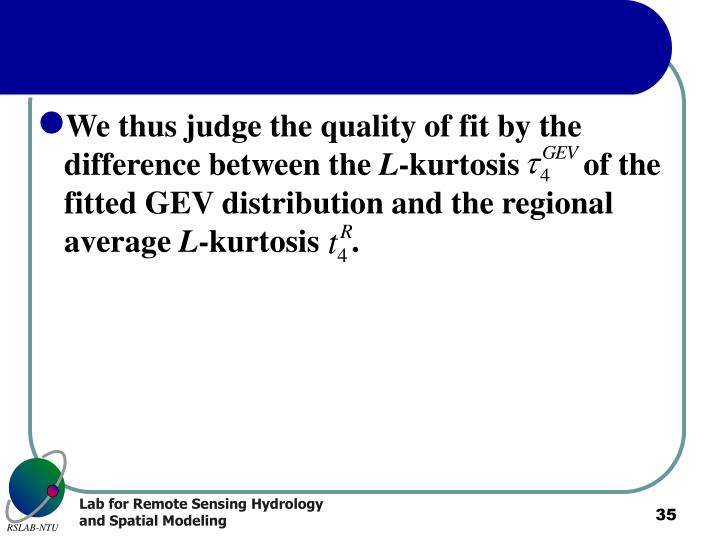 We thus judge the quality of fit by the difference between the