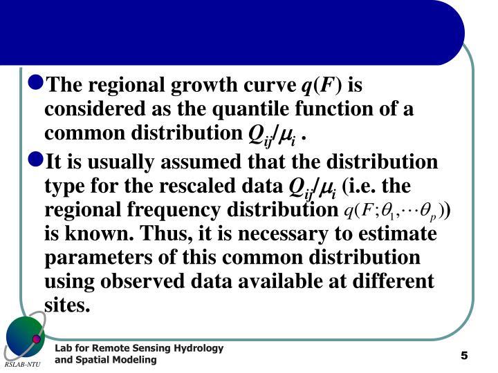 The regional growth curve