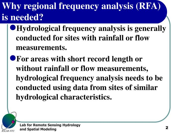 Why regional frequency analysis rfa is needed