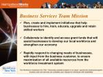 business services team mission