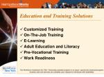 education and training solutions