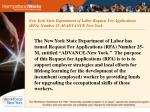 new york state department of labor request for applications rfa number 25 m advance new york