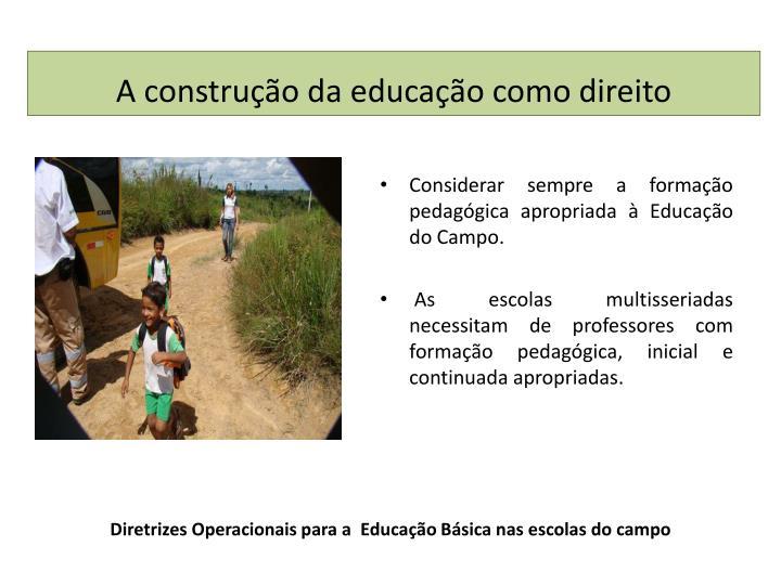 Diretrizes operacionais para a educa o b sica nas escolas do campo