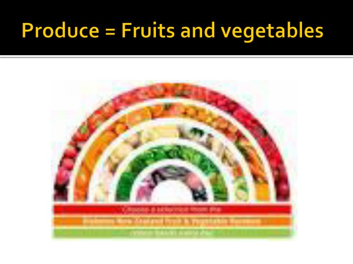 produce fruits and vegetables n.