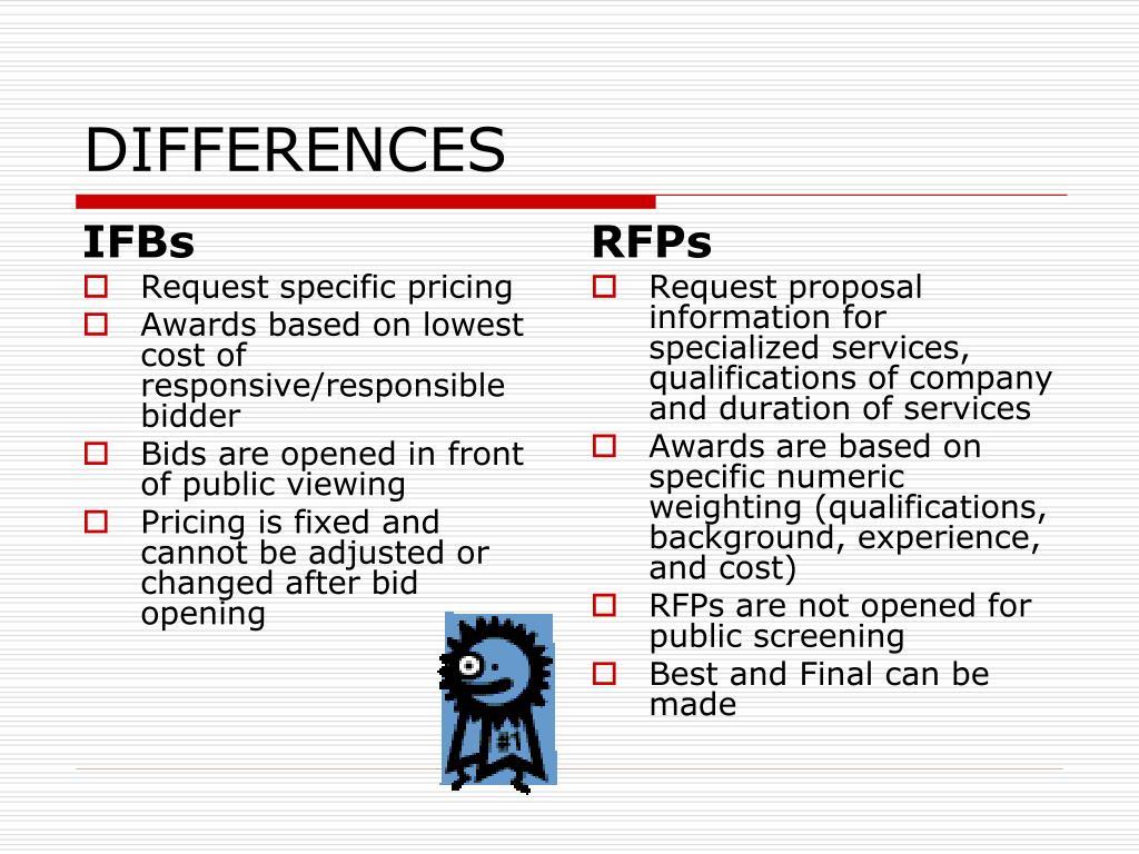 PPT - RFP vs  IFB PowerPoint Presentation - ID:5703214