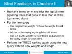 blind feedback in cheshire ii2