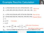 example rocchio calculation