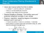 ringo collaborative filtering shardanand maes 95
