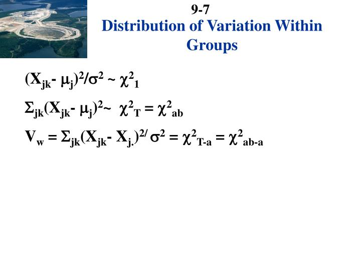 Distribution of Variation Within Groups
