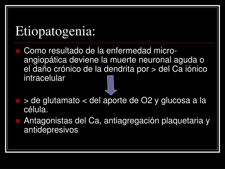 Etiopatogenia: