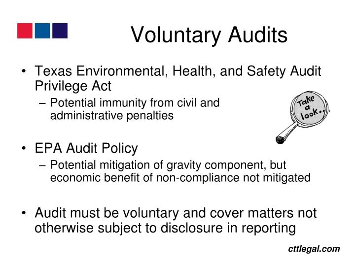 Voluntary Audits