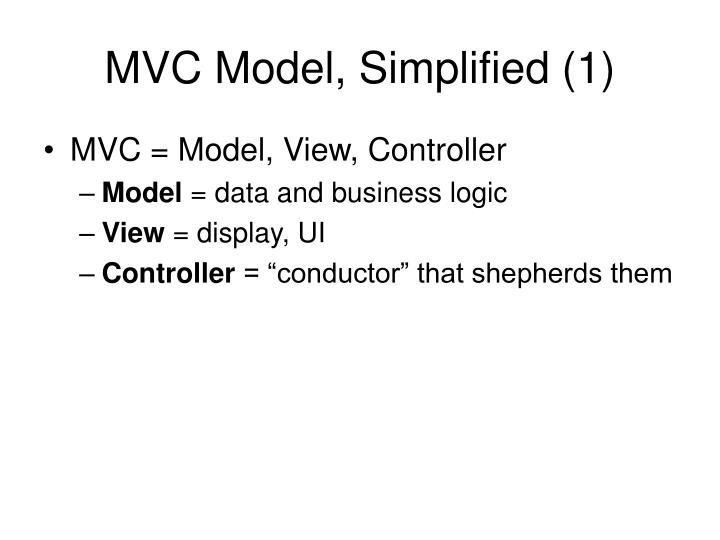 MVC Model, Simplified (1)