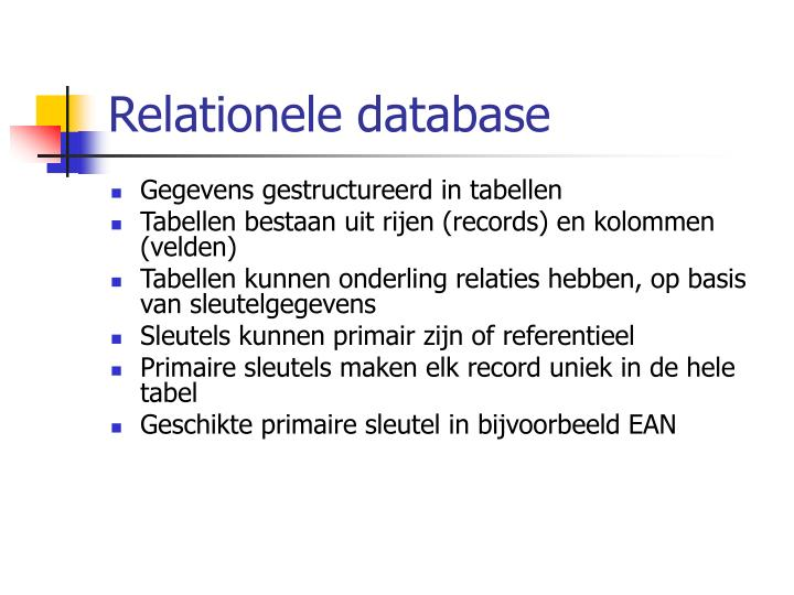 Relationele database