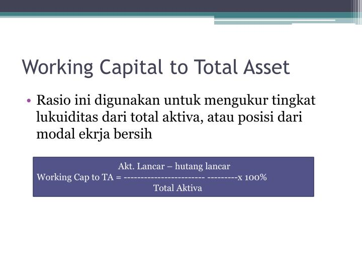 Working Capital to Total Asset
