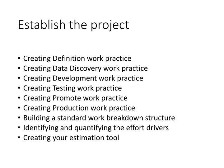 Establish the project