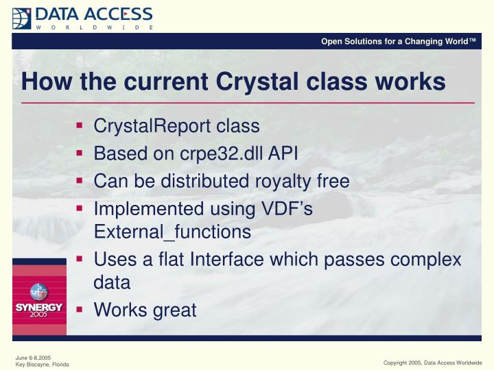How the current crystal class works