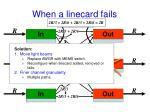 when a linecard fails