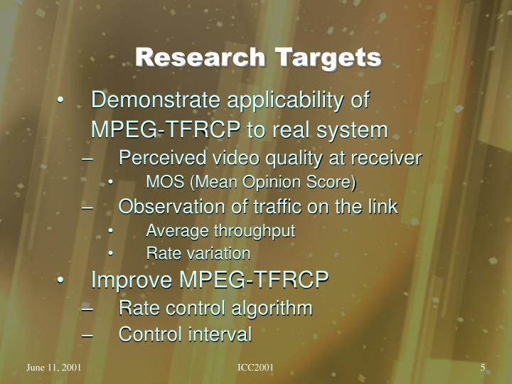 Research Targets