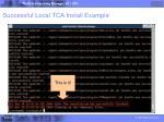 successful local tca install example1