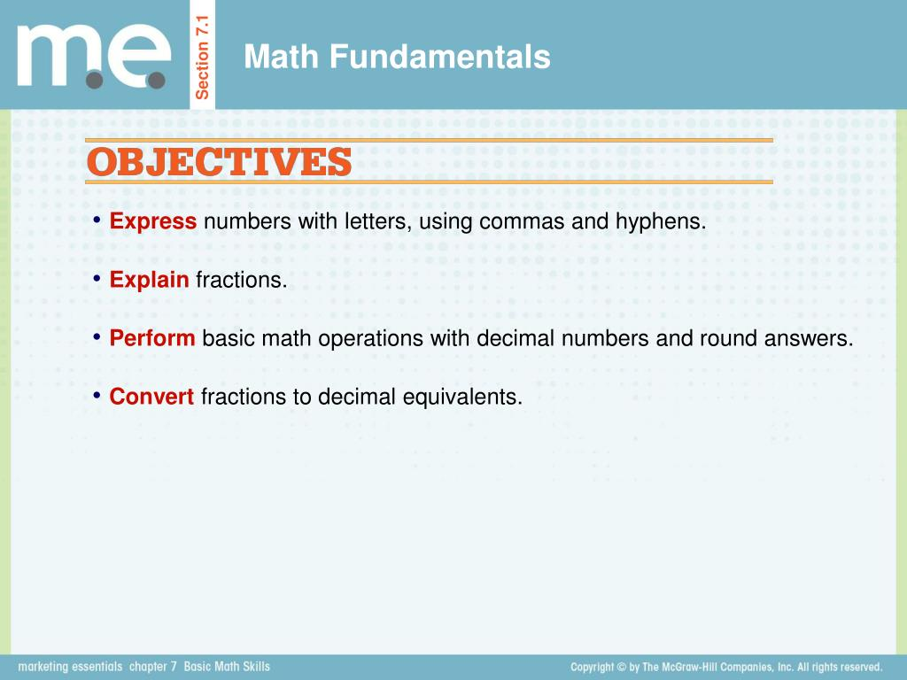 PPT - Section 7 1 Math Fundamentals PowerPoint Presentation