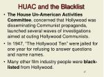 huac and the blacklist