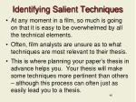 identifying salient techniques