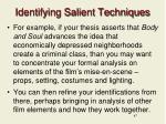 identifying salient techniques1