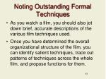noting outstanding formal techniques