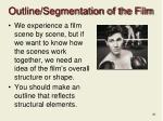 outline segmentation of the film