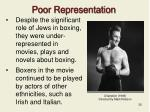 poor representation