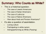 summary who counts as white
