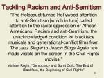 tackling racism and anti semitism