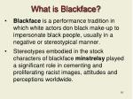 what is blackface