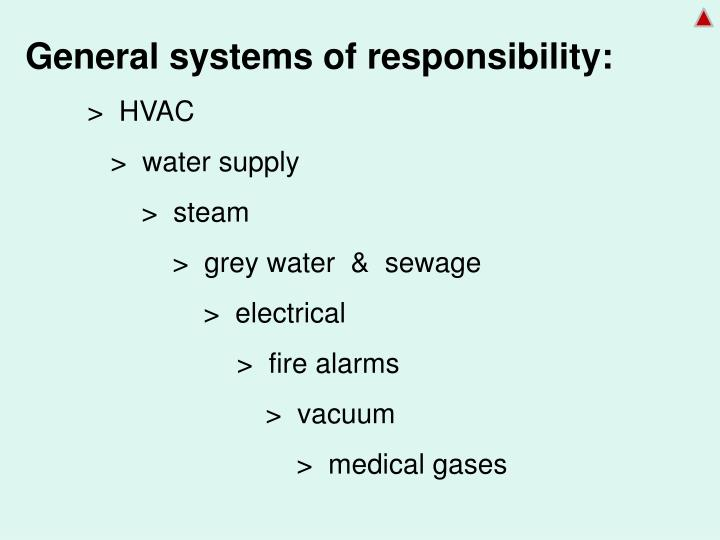 General systems of responsibility: