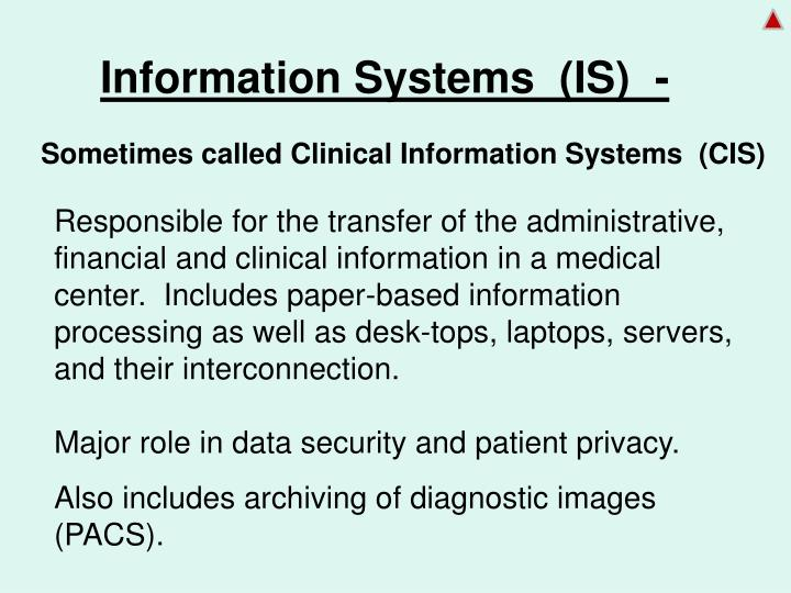 Information Systems  (IS)  -